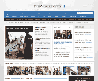 Шаблон для Joomla GK The World News 2. Тема Blue.