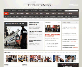 Шаблон для Joomla GK The World News 2. Тема Brown.