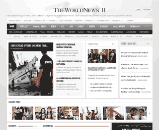 Шаблон для Joomla GK The World News 2. Тема Gray.
