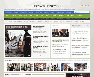 Шаблон для Joomla GK The World News 2. Тема Green.