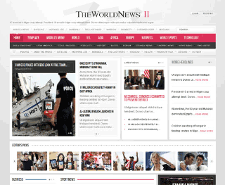 Шаблон для Joomla GK The World News 2. Тема Pink.